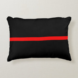 The Symbolic Thin Red Line Statement on a Decorative Pillow