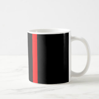 The Symbolic Thin Red Line Vertical on a Coffee Mug