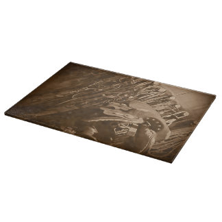 The Tack Room Western Ranch Gear Cutting Board