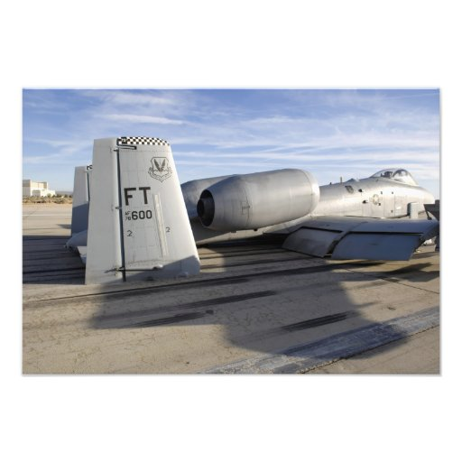 The tail section of an A-10 Thunderbolt II Photo Print