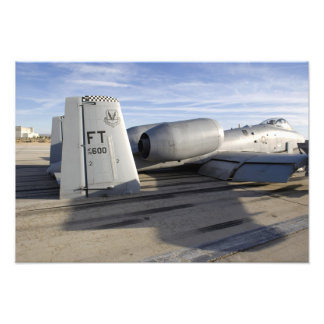 The tail section of an A-10 Thunderbolt II Photograph