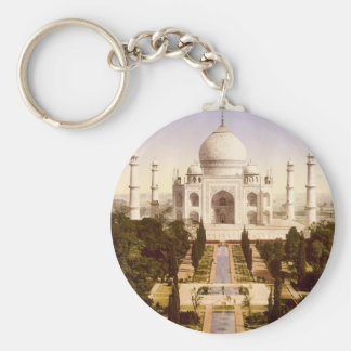 The Taj Mahal in Agra India Basic Round Button Keychain