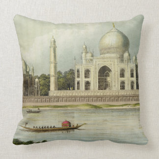 The Taj Mahal, Tomb of the Emperor Shah Jehan and Throw Pillow