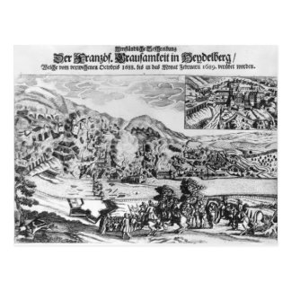 The taking and destruction of Heidelberg by Postcard