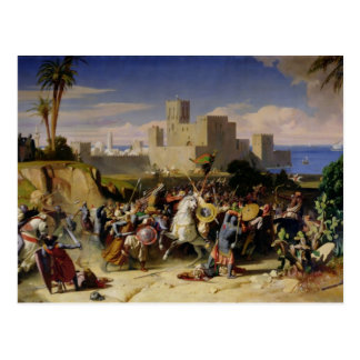 The Taking of Beirut by the Crusaders Postcard