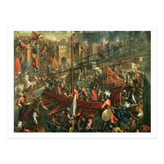 The Taking of Constantinople (oil on canvas) Postcard
