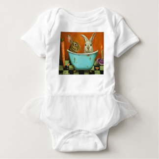 The Tale Of Two bunnies Baby Bodysuit