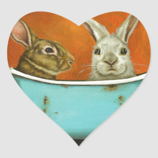 The Tale Of Two bunnies Heart Sticker