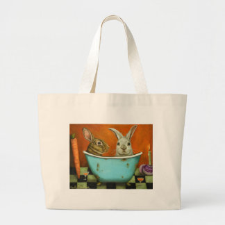 The Tale Of Two bunnies Large Tote Bag