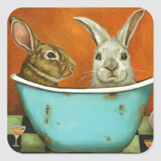 The Tale Of Two bunnies Square Sticker
