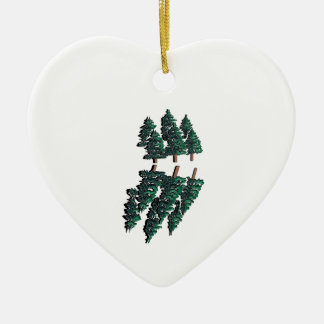 THE TALL TREES CERAMIC HEART ORNAMENT