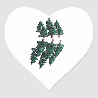 THE TALL TREES HEART STICKER