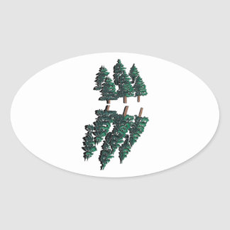 THE TALL TREES OVAL STICKER