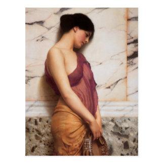 The Tambourine Girl by John William Godward Postcard