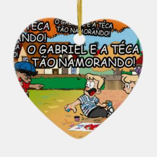 The Tampinhas Ceramic Heart Ornament