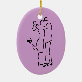 The Tango Dancers customizable Ceramic Ornament