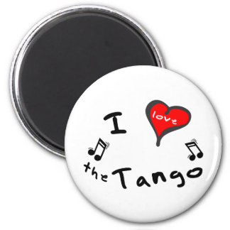 the Tango Gifts - I Heart the Tango 2 Inch Round Magnet