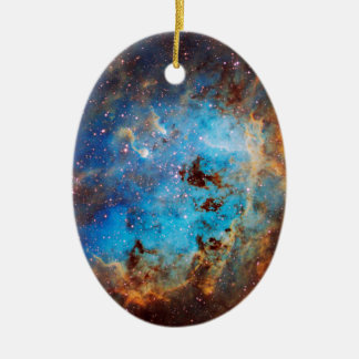The Tapdole Nebula Ceramic Oval Ornament