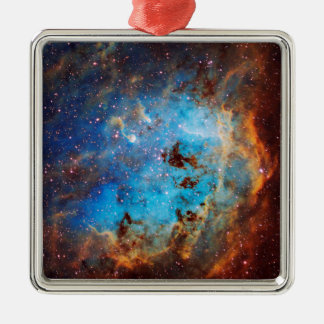 The Tapdole Nebula Silver-Colored Square Ornament