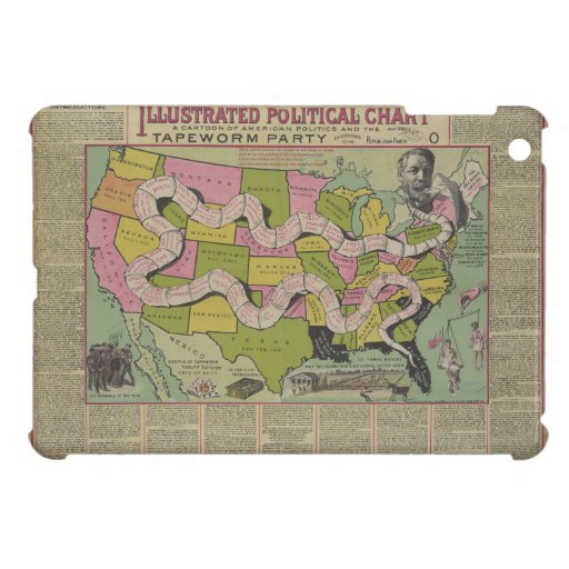 The Tapeworm Party American Political Chart (1888) iPad Mini Covers