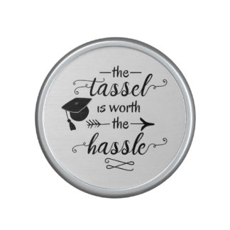 The tassel is worth the hassle speaker