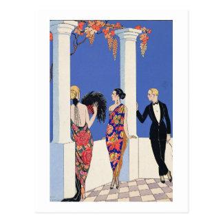 The Taste of Shawls, 1922 (pochoir print) Postcard