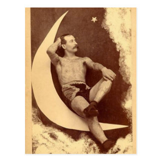 The Tattooed Man In The Moon Postcard
