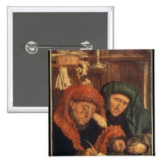 The Tax Collectors, 1550 2 Inch Square Button
