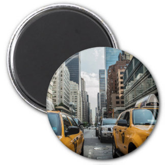 The Taxis of New York 2 Inch Round Magnet