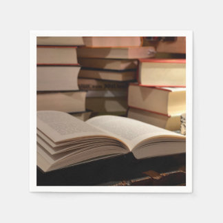 The TBR Book Stack Disposable Napkin