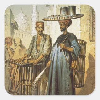 The Tea Seller, from 'Souvenir of Cairo', 1862 (li Square Sticker