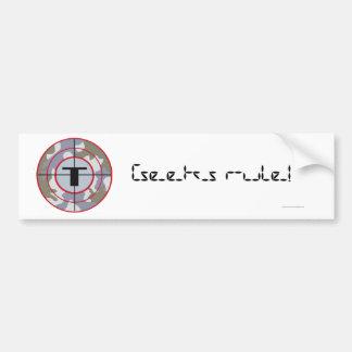The Techno Tribe Logo Bumper Sticker