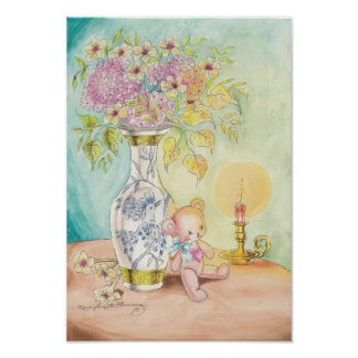 The Teddy Bear, the Candle & the Vase Poster