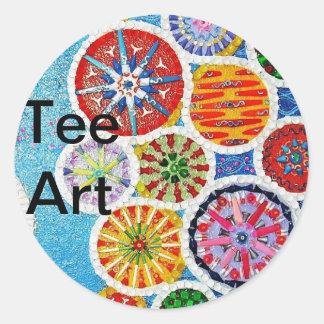 The Tee Change Classic Round Sticker