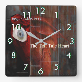 The Tell Tale Heart Square Wall Clock