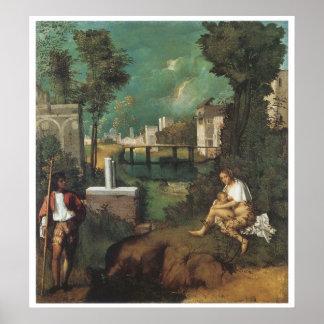 The Tempest, 1510 Giorgione Poster