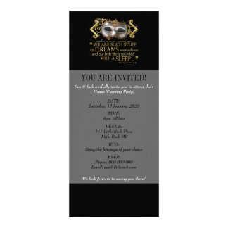 The Tempest Quote Gold Version Personalized Invitations
