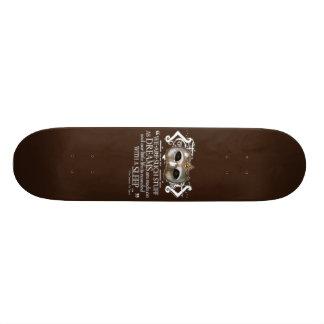 The Tempest Quote Custom Skate Board