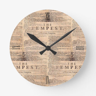 The Tempest Shakespeare Play Cream Wall Clock
