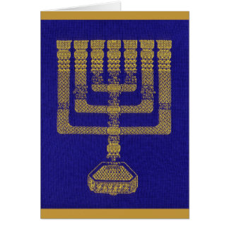 The Temple Menorah greeting card
