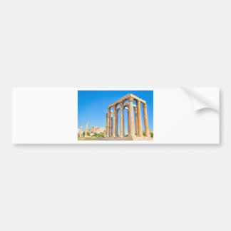 The Temple of Olympian Zeus in Athens, Greece Bumper Sticker