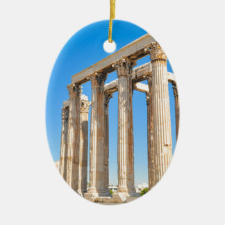 The Temple of Olympian Zeus in Athens, Greece Ceramic Ornament