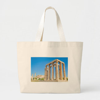 The Temple of Olympian Zeus in Athens, Greece Large Tote Bag