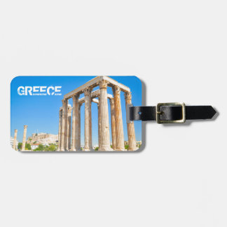 The Temple of Olympian Zeus in Athens, Greece, Luggage Tag