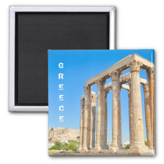 The Temple of Olympian Zeus in Athens, Greece Magnet