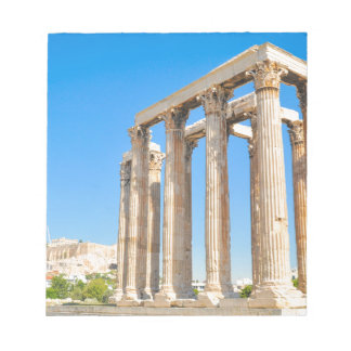 The Temple of Olympian Zeus in Athens, Greece, Notepad