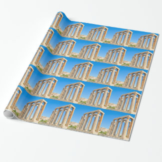 The Temple of Olympian Zeus in Athens, Greece, Wrapping Paper