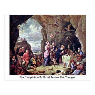 The Temptation By David Teniers The Younger Postcard