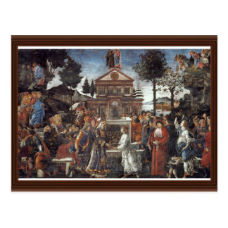 The Temptation Of Christ By Botticelli Sandro Postcard