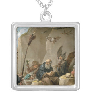 The Temptation of St. Anthony Square Pendant Necklace